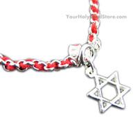 RED STRING KABBALAH BRACELET + STAR OF DAVID