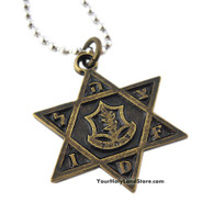 Star Of Magen David Necklace with IDF Logo