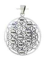 KABBALAH FLOWER OF LIFE & TREE OF LIFE PENDANT