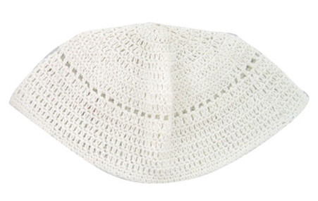 Big White Kippah