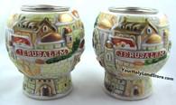 Shabbat Ceramic Candlesticks