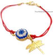 Kabbalah Red String Bracelet with Dragonfly Pendant