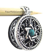 Filigree Locket with Book of Psalms and Star of David