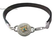 Silver and Gold Butterfly Bracelet with Blessing