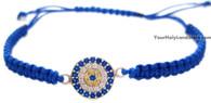 Evil Eye Macrame Bracelet with Crystals
