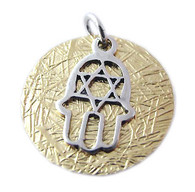 Silver & Gold Filled Pendant with 7 Blessings