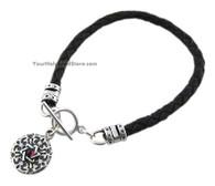 Shema Yisrael Leather Bracelet