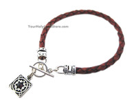 Leather Bracelet with Protection Blessing