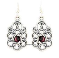 Sterling Silver Earrings with Star of David