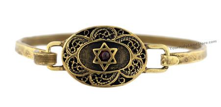 Star of David & Shema Yisrael Bracelet