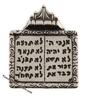 925 Sterling Silver Ten Commandments Pendant