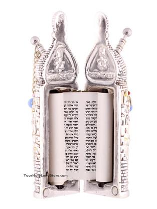 Torah Scroll in Silver Case