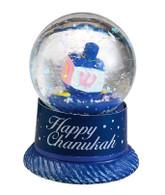 Chanukah Snow Globe with Dreidel