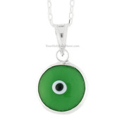 Green Evil Eye Pendant