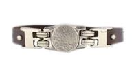 Leather Bracelet with Shema Yisrael