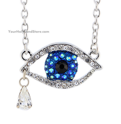 Evil Eye Necklace with Crystals