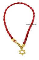 Kabbalah Bracelet with Gold Plated Star of David