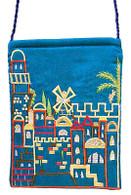 Bag with Embroidered Jerusalem Scene