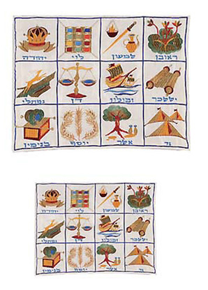 The Twelve Tribes Tallit and Tefillin Bags