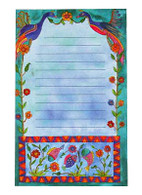 Magnetic Notepad with Flowers