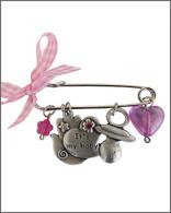 Pin for Baby Girl with Hamsa Hand