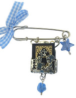 Pin for Baby Boy with Tehillim Book