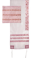 Pink Tallit with Flowers
