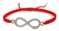 Kabbalah Red String Bracelet with Infinity Charm