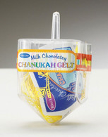 Dreidel Filled with Chanukah Gelt