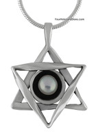 Star of David with Pearl Necklace