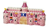 Pink Ceramic Castle Menorah