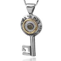 Key Pendant with Chrysoberyl for Prosperity