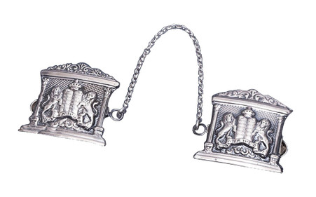 Sterling Silver Tallit Clips with Lion of Judah