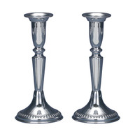 Sterling Silver Shabbat Filigree Candlesticks by Hazorfim
