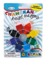 Dreidel Shaped Chanukah Crayons