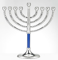 Hanukkah Menorah with Blue Accents