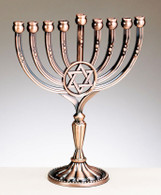 Star of David Menorah - Copper Finish