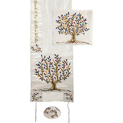 Tree of Life Embroidered Tallit Set