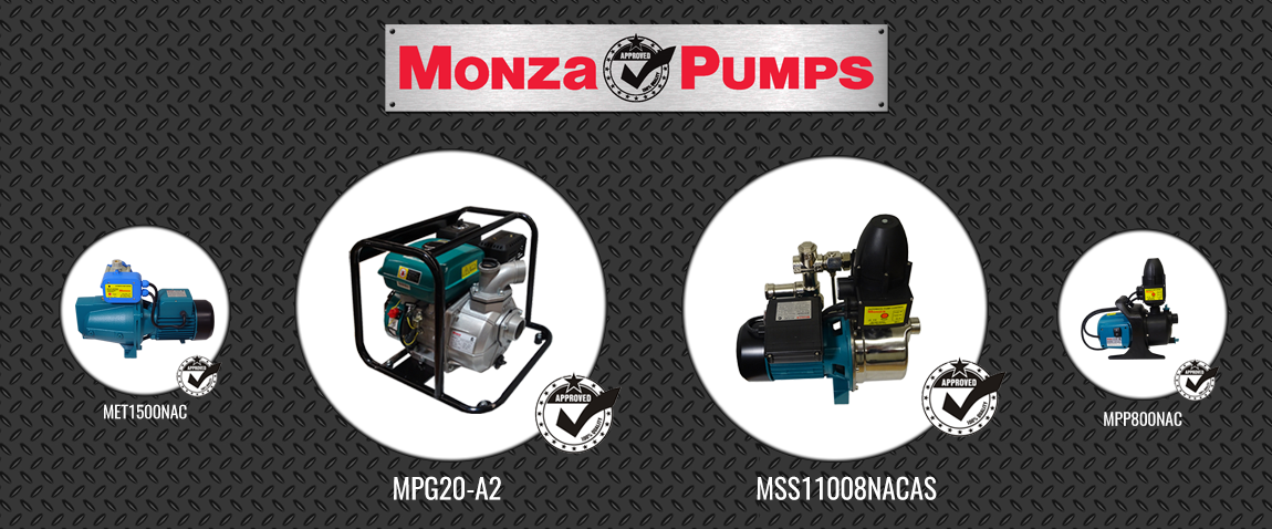 Your Monza Pumps Sales Specialist in Sydney and NSW. Buy your Water Pump Now, With Delivery.