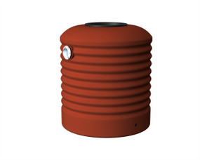 500L Round Squat Water Tank buy now from your local supplier of poly rainwater tanks in Sydney and across NSW with delivery available.
