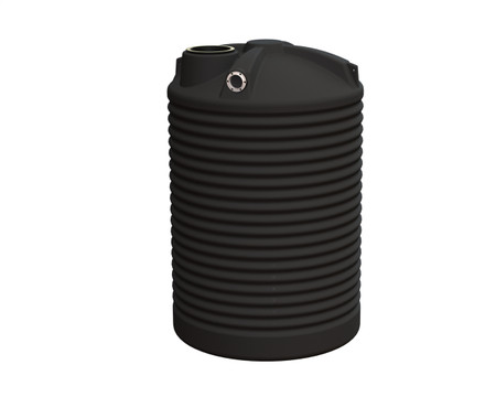 2500L Round Water Tank buy now from your local supplier of poly rainwater tanks in Sydney and across NSW with delivery available.