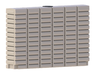 TST3000 L Thin Slimline Water Tank local supplier of poly rainwater tanks in Sydney and across NSW with delivery available.