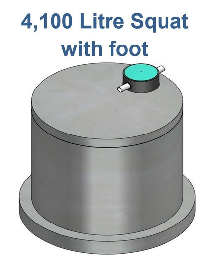 4100L Squat Water Tank with Foot
