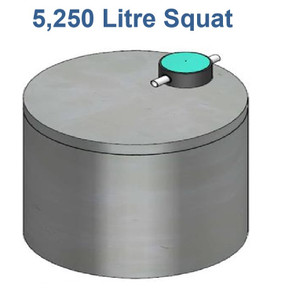 5250L Squat Concrete Rain Water Tank