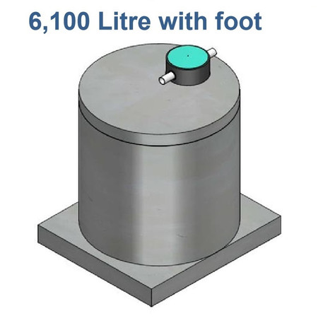 6100L Concrete Water Tank with Foot