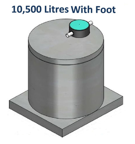 10500L Concrete Water Tank with Foot