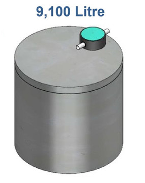 9100L Concrete Water Tank