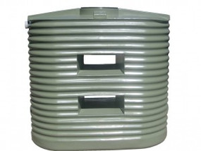 MS1250LC Corrugated Poly Slimline Tank buy now from your local supplier of poly rainwater tanks in Sydney and across NSW with delivery available.