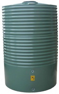 2200L Round Water Tank buy now from your local supplier of poly rainwater tanks in Sydney and across NSW with delivery available.