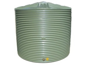 10000L Round Water Tank buy now from your local supplier of poly rainwater tanks in Sydney and across NSW with delivery available.
